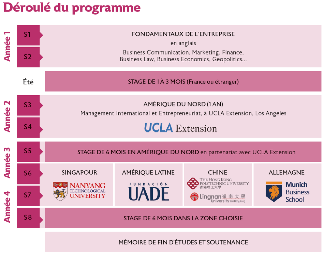 BBA EDHEC parcours Global Business