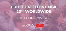 EDHEC Executive MBA ranked 20th worldwide by The Economist