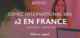 Classement Challenges 2018 : International EDHEC BBA conforte sa 2eme place en France